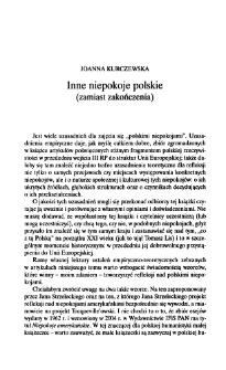 Inne niepokoje polskie (zamiast zakończenia)