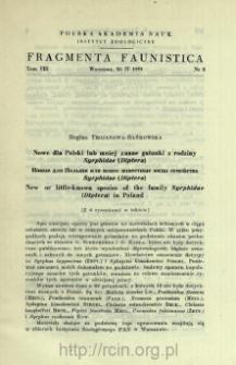 Nowe dla Polski lub mniej znane gatunki z rodziny Syrphidae (Diptera) = Novye dlâ Pol'ši ili menee izvestnye vidy semejstva Syrphidae (Diptera)