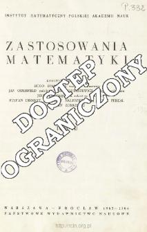 Zastosowania Matematyki, Spis treści i dodatki. T.7 (1963-1964)