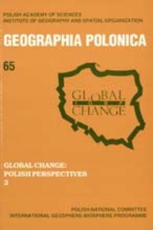 Geographia Polonica 65 (1995), Global Change : Polish Perspectives 2