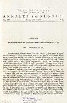 Die Plecopteren-Arten Enderleins (Insecta) : Revision der Typen