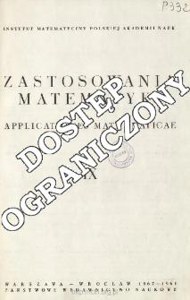 Zastosowania Matematyki = Applicationes Mathematicae, Spis treści i dodatki. T.9 (1967-1968)