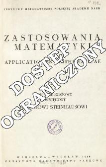 Zastosowania Matematyki = Applicationes Mathematicae, Spis treści i dodatki. T.10 (1969)