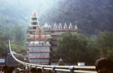 Bridge over Ganges in Lakshman Jhula / Rishikesh (Iconographic document)