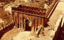 A fragment of a castle in Amer near Jaipur (Iconographic document)