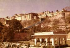 Fragment zamku w Amer koło Jaipur (Dokument ikonograficzny)