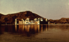 Castle on the lake in Udaipur (Iconographic document)