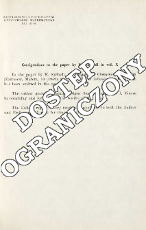 Corrigendum to the paper by K. Sarkadi in vol. X