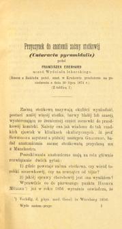 Przyczynek do anatomii zaćmy stozkowéj (Cataracta pyramidalis)