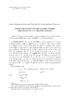 Weak solutions to the Navier–Stokes equations in a Y-shaped domain