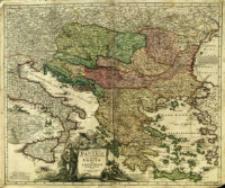 Fluviorum in Europa principis Danubii Cum Adiaceniibus Regnis, nec non totius Graeciæ Et Archipelagi Novißima Tabula