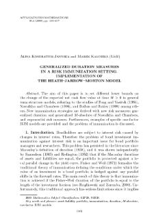 Generalized duration measures in a risk immunization setting. Implementation of the Heath–Jarrow–Morton model