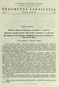 Biometria ciernika Gasterosteus aculeatus L. z rzeki Ner = Biomertiâ trehigloj kolûški Gasterosteus aculeatus L. iz reki Ner