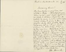 List Marcelego Nenckiego (1847-1901) do Leona Marchlewskiego (1869-1946) z 08.04.1896