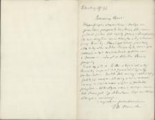 List Marcelego Nenckiego (1847-1901) do Leona Marchlewskiego (1869-1946) z 10.06.1896