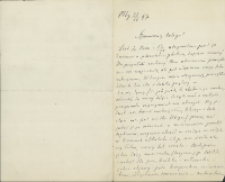 List Marcelego Nenckiego (1847-1901) do Leona Marchlewskiego (1869-1946) z 31.10.1897