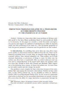 Prediction problems related to a first-order autoregressive process in the presence of outliers