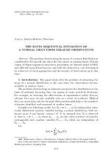 The Bayes sequential estimation of a normal mean from delayed observations