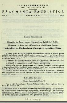 Materiały do fauny mszyc (Homoptera, Aphididae) Polski = Materialy k faune tlej (Homoptera, Aphididae) Pol'ši