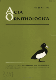Acta Ornithologica ; vol. 27 - Spis treści