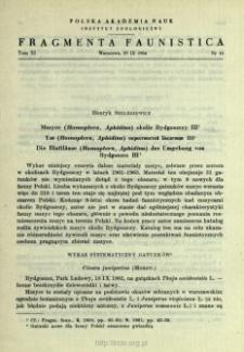 Mszyce (Homoptera, Aphidina) okolic Bydgoszczy. 3 = Tli (Homoptera, Aphidina) okrestnostej Bydgoŝi. 3