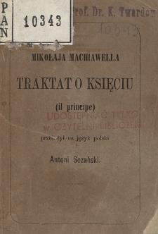 Mikołaja Machiawella traktat o księciu : (il principe)