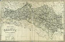 Galicya mapa polityczna i komunikacyjna