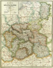 Mapa dziesięciu guberni Królestwa Polskiego