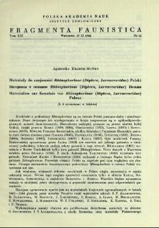 Materiały do znajomości Rhinophorinae (Diptera, Larvaevoridae) Polski = Materialy k poznaniû Rhinophorinae (Diptera, Larvaevoridae) Pol'ši