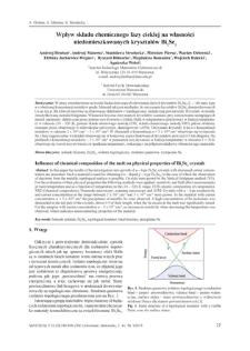 Wpływ składu chemicznego fazy ciekłej na własności niedomieszkowanych kryształów Bi2Se3