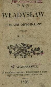 Pan Władysław : romans oryginalny