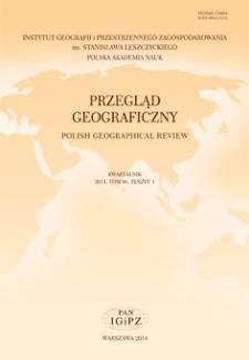 Przegląd Geograficzny T. 86 z. 1 (2014), Spis treści