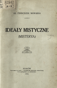Ideały mistyczne : (misterya)
