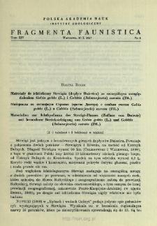 Materiały do ichtiofauny Strwiąża (dopływ Dniestru) ze szczególnym uwzględnieniem Gobio gobio (L.) i Cobitis (Sabanejewia) aurata (Fil.) = Materialy po ihtiofaune Strvâža (pritok Dnestra) s osobym učetom Gobio gobio (L.) i Cobitis (Sabanejewia) aurata (Fil.)