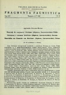Materiały do znajomości Dexiinae (Diptera, Larvaevoridae) Polski = Materialy k poznaniû Dexiinae (Diptera, Larvaevoridae) Pol'ši