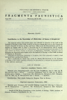 Contribution to the Knowledge of Histeridae of Korea (Coleoptera)
