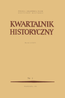Kwartalnik Historyczny. R. 87 nr 1 (1980), Title pages, Contents