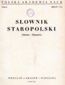 Słownik staropolski. T. 2 z. 7 (13), (Górny - Hynszta)