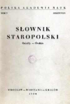 Słownik staropolski. T. 5 z. 9 (33), (Osiadły-Ówdzie)