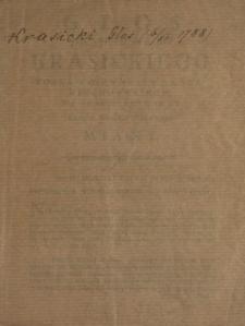 Głos JW. JP. Hrabi Krasickiego Posła Woiewodztwa Czerniechowskiego, Na Sessyi Seymowey Dnia 6. Grudnia Roku 1788. Miany