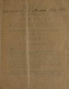 Mowa Stanisława S.P.R. Hrabi Krasickiego Podkomorzego Bełzkiego Posła Czern. Dnia 11. Maia Roku 1792. Miana