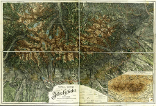 Detail-Karte des Tatra Gebietes in 2 Blättern : Reproduction der Neuafnahme v. Jahre 1896/97