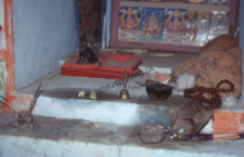 Hindu shrine, kachchi rabari (Iconographic document)