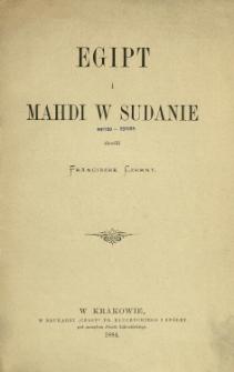 Egipt i Mahdi w Sudanie