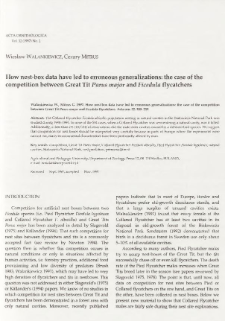 How nest-box data have led to erroneous generalizations: the case of the competition between great tit Parus major and Ficedula flycatchers
