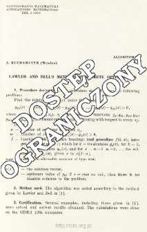 Algorithm 23 - Lawler and Bell's method of discrete optimization