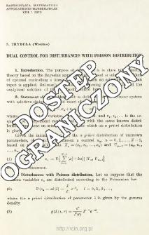 Dual control for disturbances with Poisson distribution