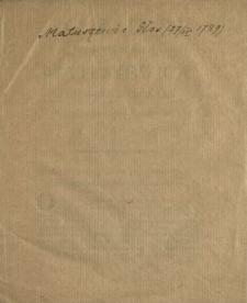 Głos Jaśnie Wielmożnego Matuszewica Posła Brzeskiego Lit. Na Sessyi Dnia 27. Kwietnia 1789. Miany
