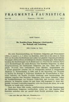 Beitrag zur Kenntnis der Zonitidae (Gastropoda) der französischen Pyrenäen = Przyczynek do znajomości Zonitidae (Gastropoda) francuskich Pirenejów