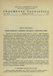 Notatki faunistyczne o mączlikach (Homoptera, Aleyrododea) Polski